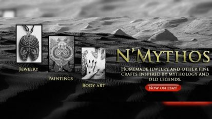 N'Mythos Handmade jewelry and other fine crafts inspired by mythology and old legends. Now on eBay!